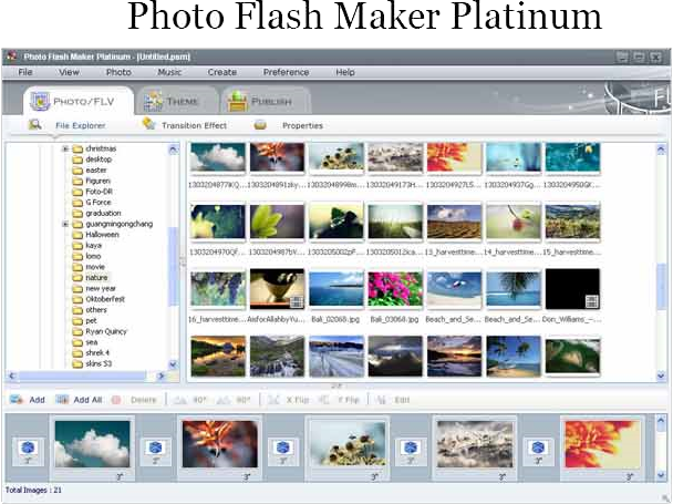 Photo Flash Maker Platinum + Photo DVD Maker Bundle Screenshot