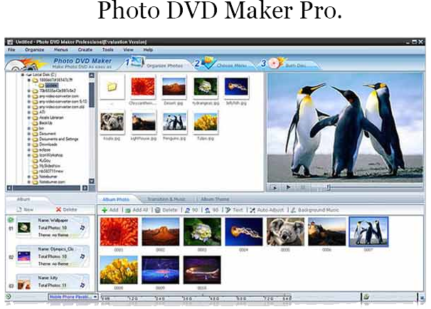 Slideshow Software, Photo Flash Maker Platinum + Photo DVD Maker Bundle Screenshot