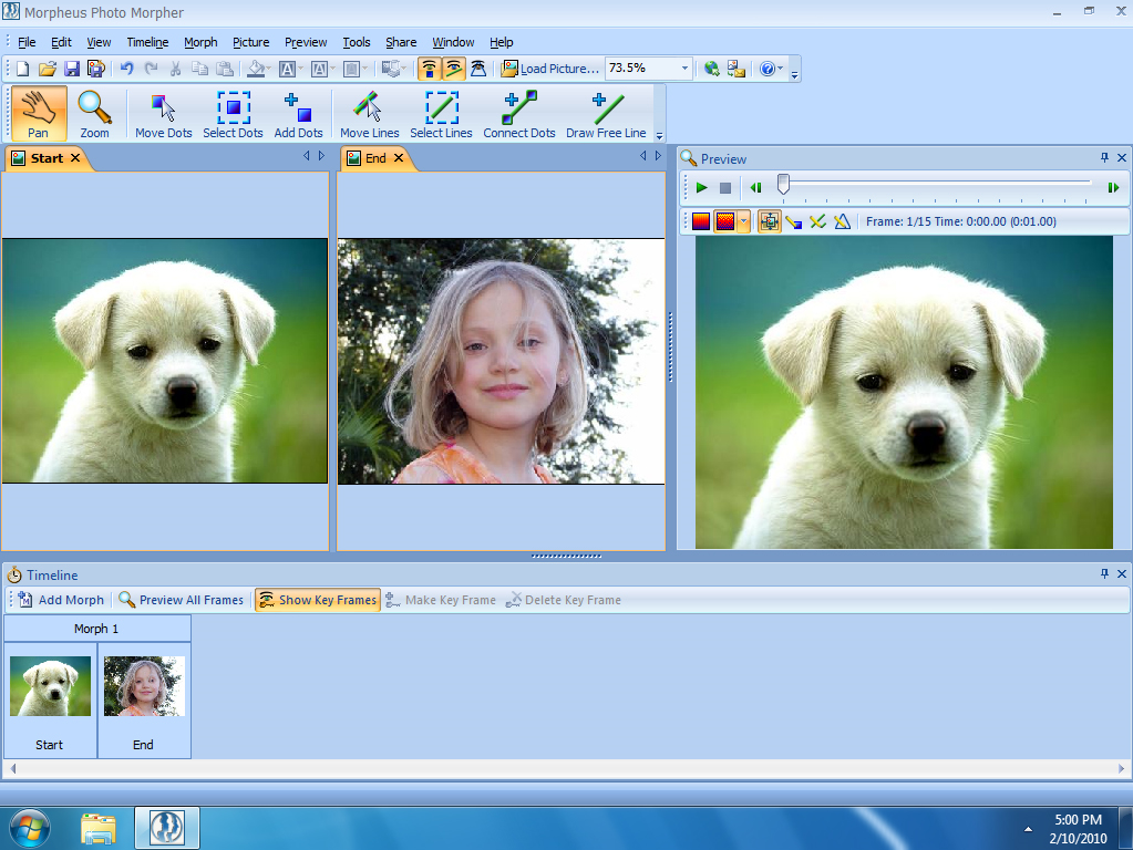 Morphing Software Screenshot