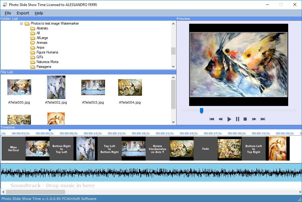 Photo Slide Show Time Screenshot