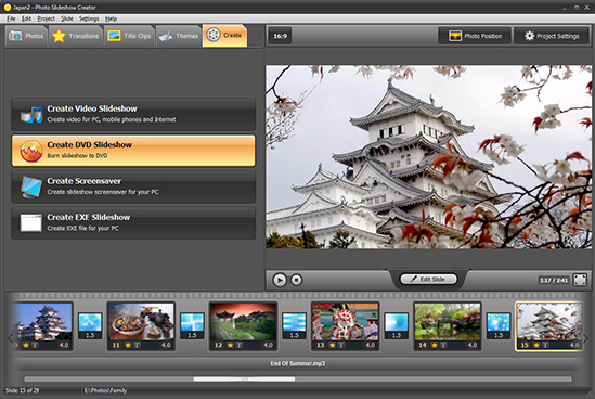 Photo Slideshow Creator Deluxe, Design, Photo & Graphics Software Screenshot