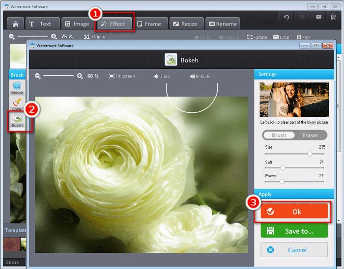 Photo Watermark Software, Watermark Software Screenshot