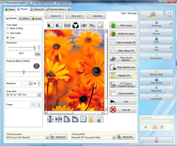 Organization Software, Photocopier Expert 7 Screenshot