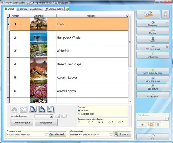 Productivity Software, Photocopier Expert 7 Screenshot