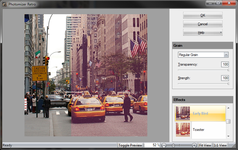 Photomizer Retro Plugin Screenshot