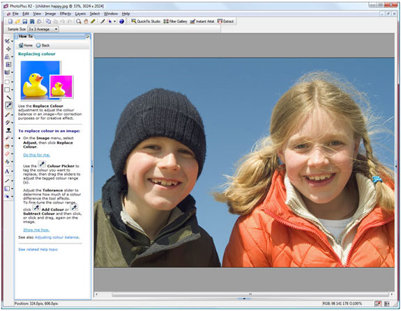 Photo Manipulation Software Screenshot