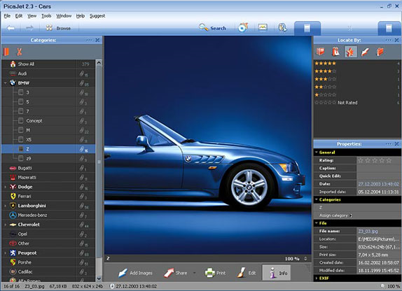 PicaJet FX, Image Viewer Software Screenshot