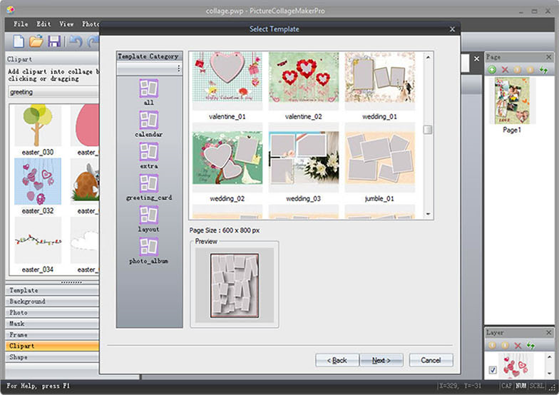 Picture Collage Maker Pro, Graphic Design Software Screenshot