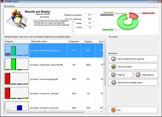 Plagiarism-Detector, Software Utilities Screenshot