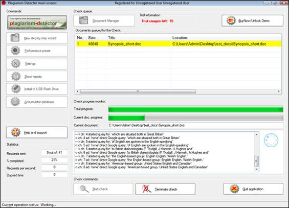 Plagiarism-Detector, Other Utilities Software Screenshot