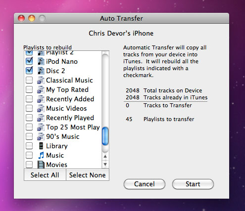 how to get songs from ipod to computer mac