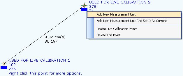 Measurement Software, Points On A Canvas Screenshot
