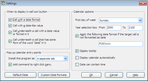Excel Add-ins Software Screenshot