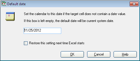 Pop-up Excel Calendar, Business & Finance Software Screenshot