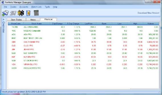 Portfolio Manager, Portfolio Management Software Screenshot