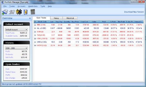 Portfolio Manager Screenshot