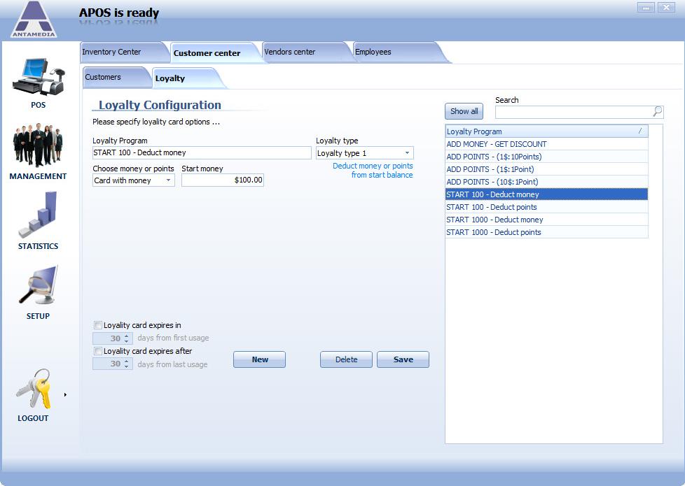 Business Management Software, POS Software Screenshot