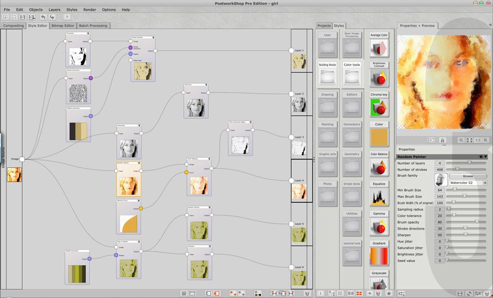PostworkShop Pro Edition, Design, Photo & Graphics Software Screenshot