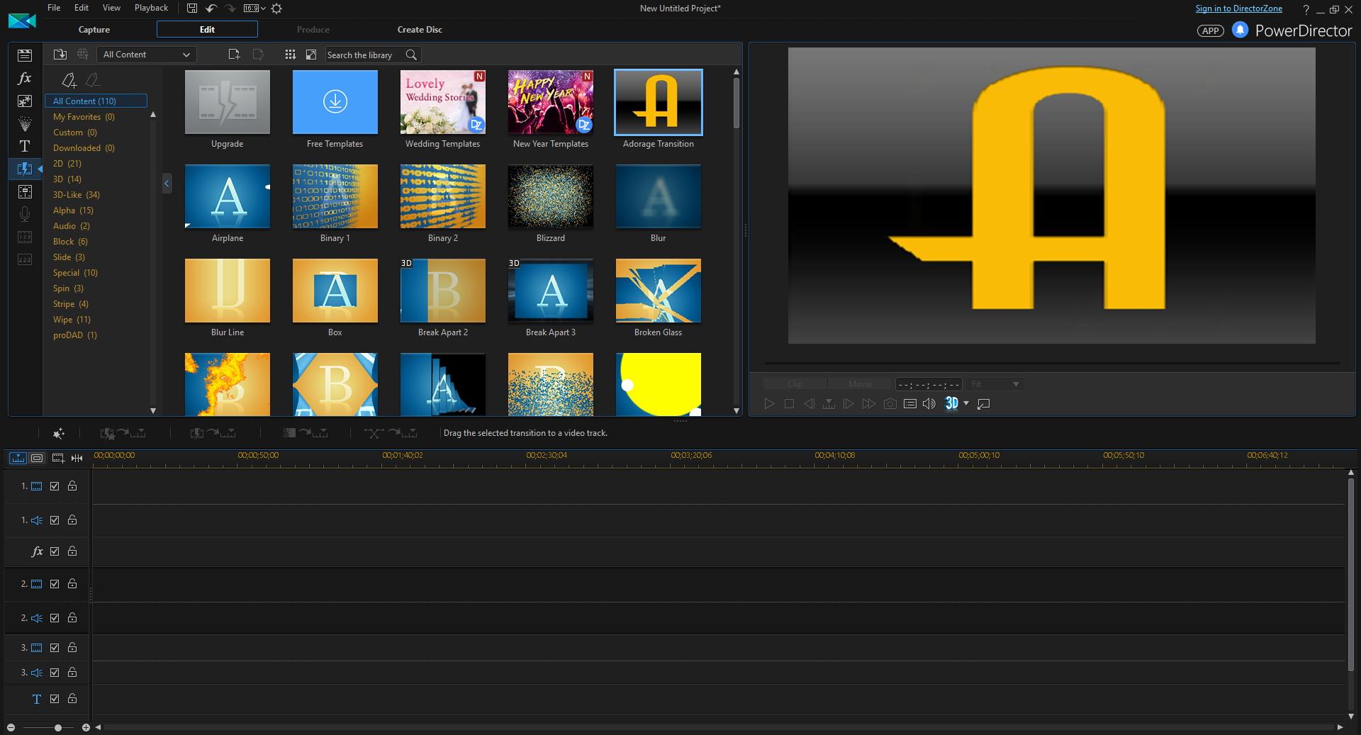 Video Editing Software, PowerDirector Screenshot
