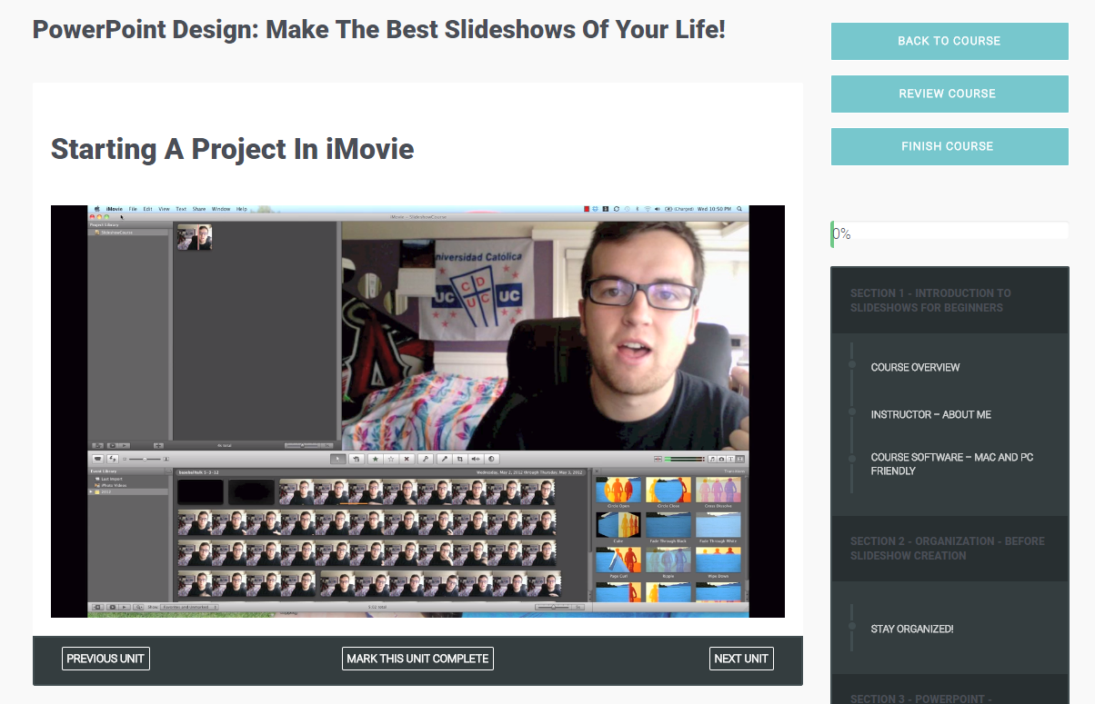 PowerPoint Design: Make The Best Slideshows Of Your Life!, Learning and Courses Software Screenshot