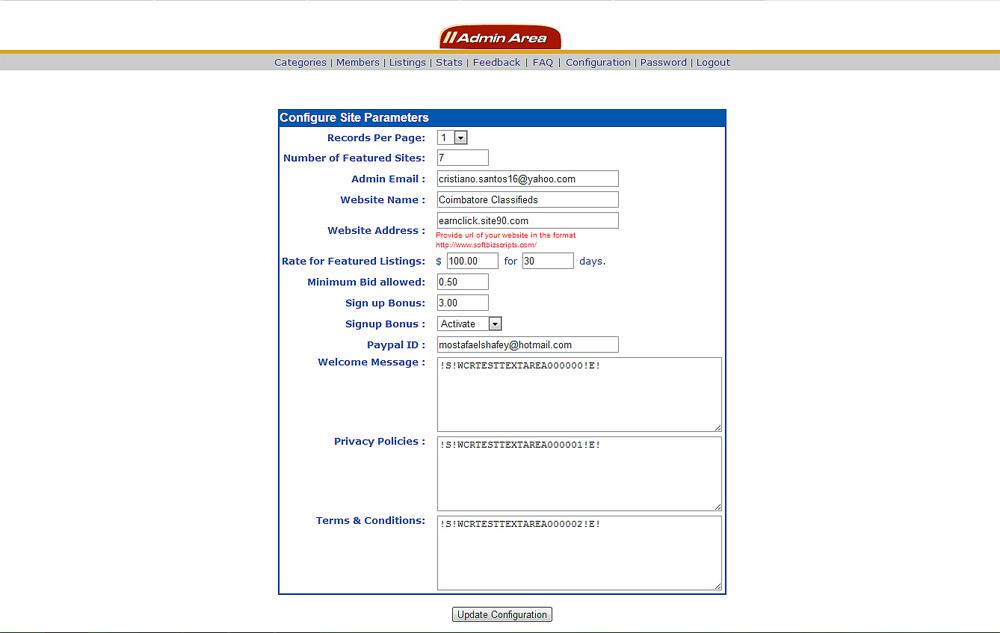 PPC Script, Development Software Screenshot