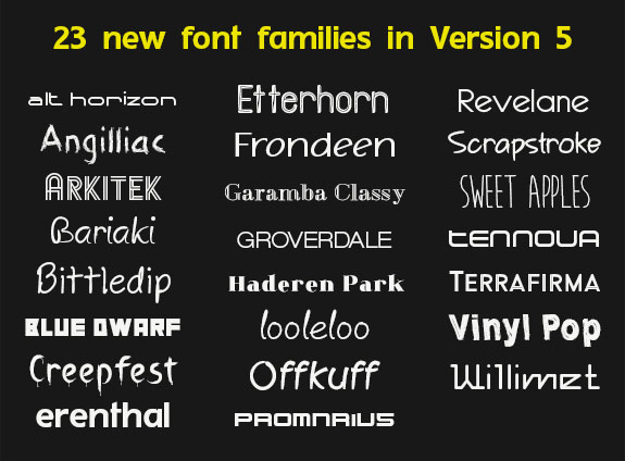 Fonts and Font Tools Software, Premium Fonts Screenshot