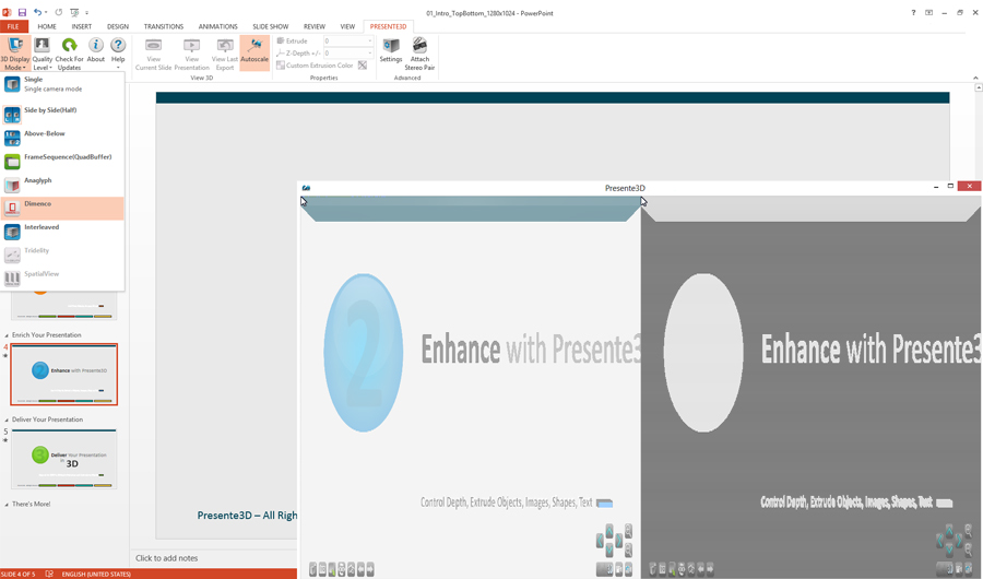 Presente3D, Microsoft Office Software Screenshot
