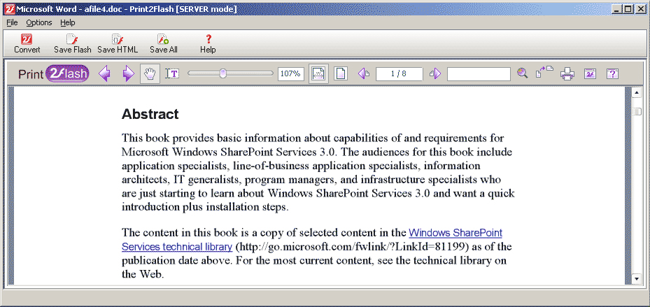 Document Conversion Software Screenshot