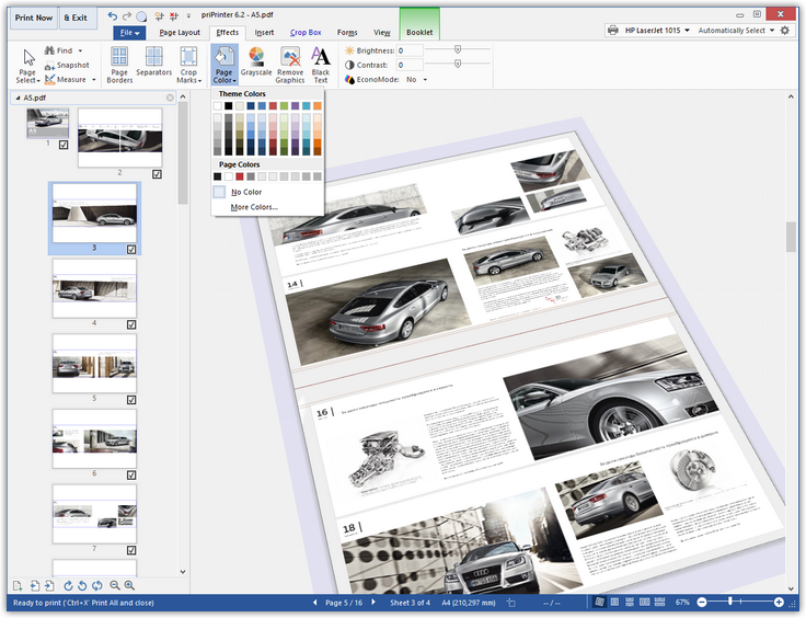 priPrinter Standard, Printing Software Screenshot