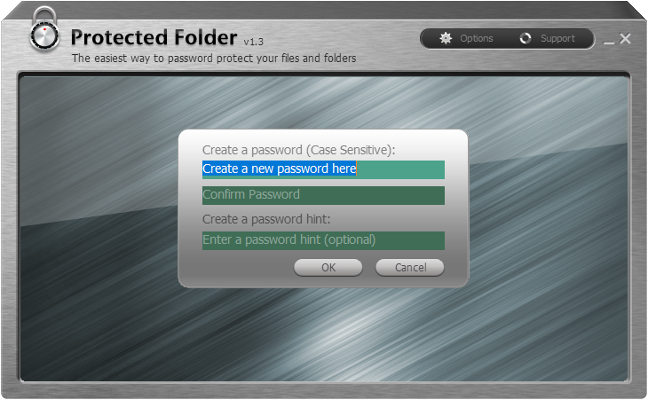 Protected Folder Screenshot