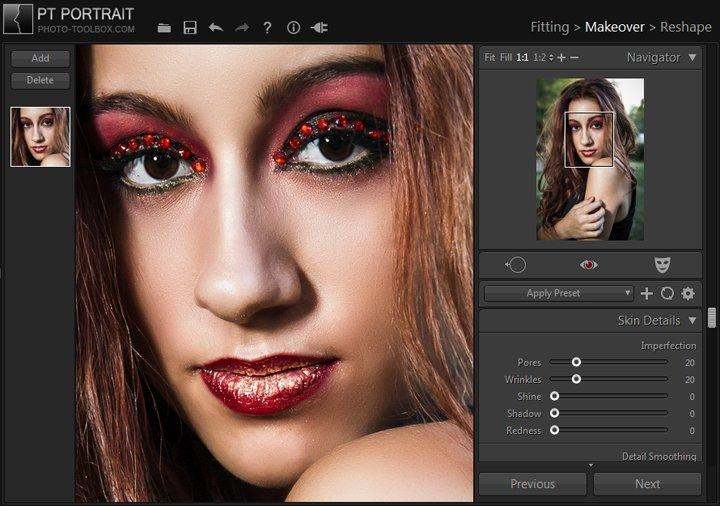 PT Portrait, Photo Editing Software Screenshot