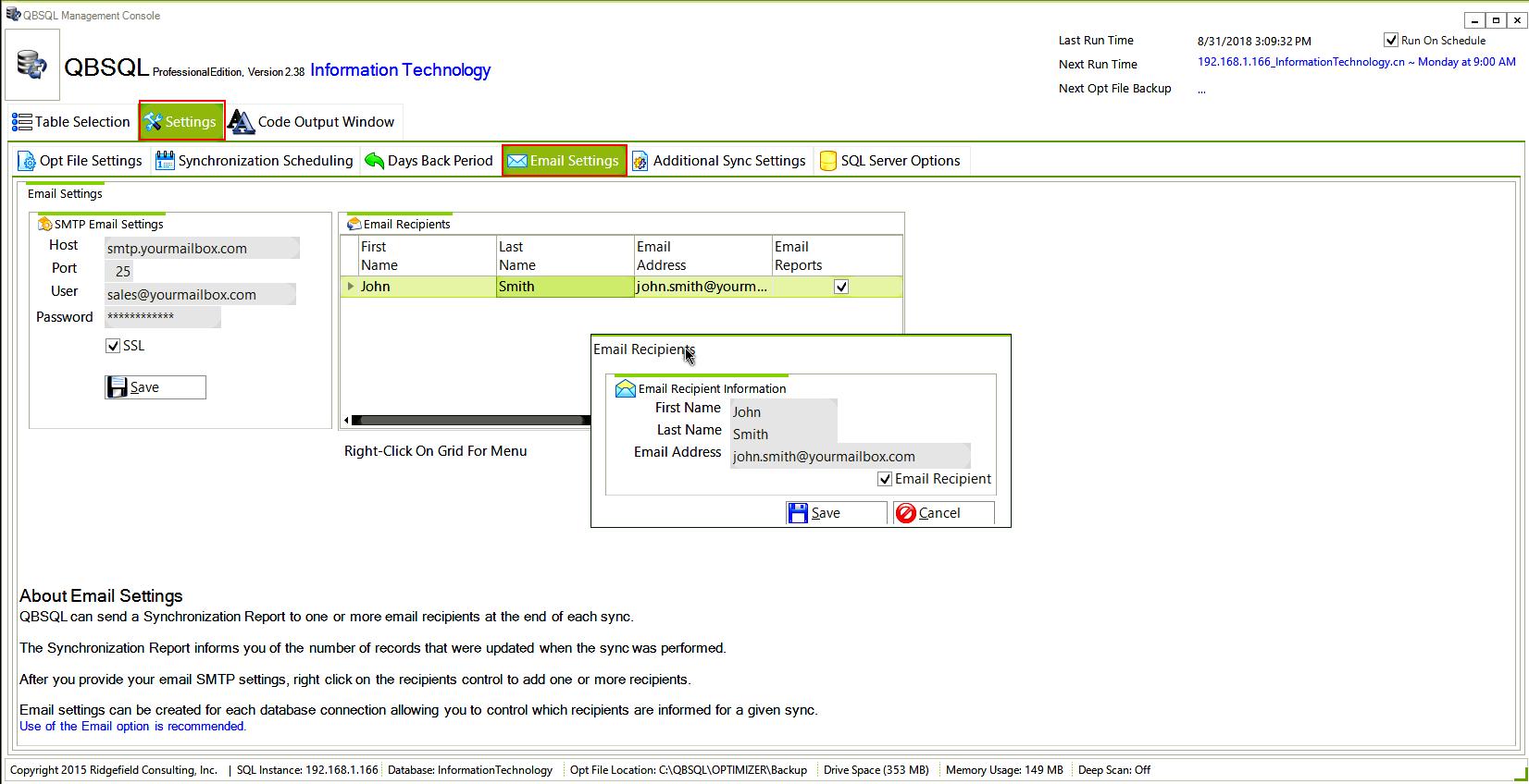 Business & Finance Software, QBSQL Screenshot