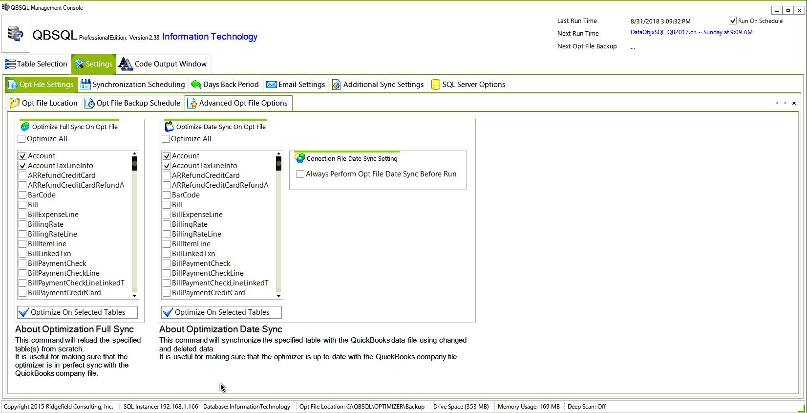 QBSQL, Business & Finance Software Screenshot