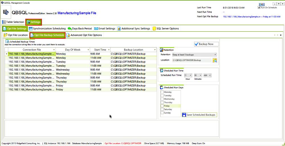 QBSQL, Business Management Software Screenshot