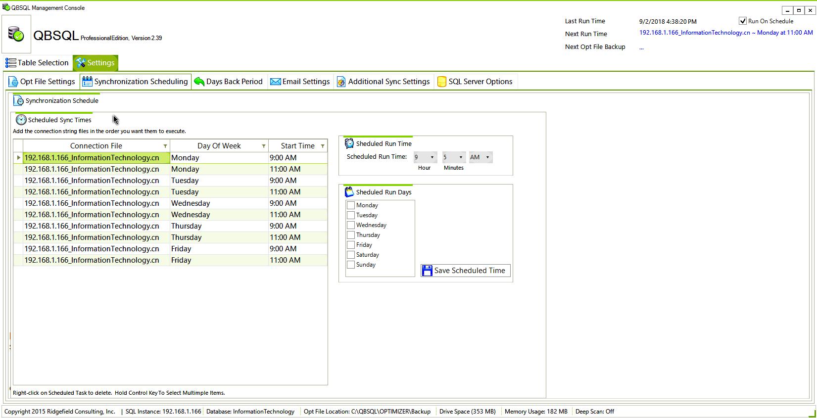 Business Management Software, QBSQL Screenshot