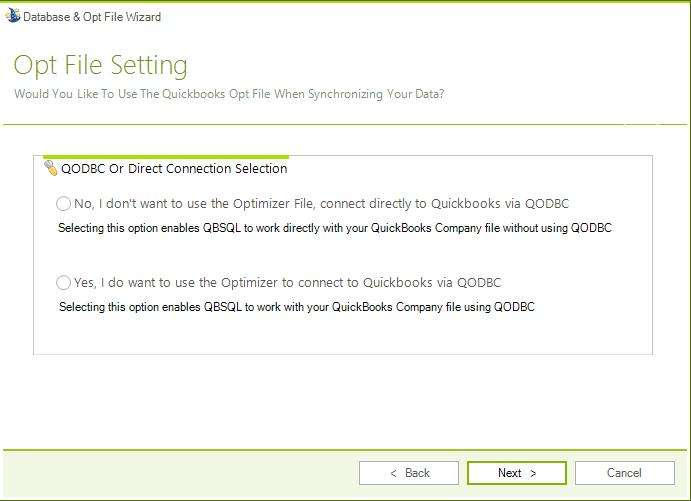Accounting Software, QBSQL Screenshot