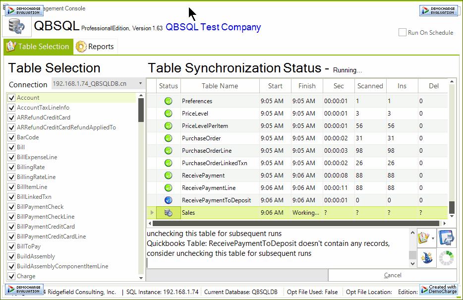 QBSQL Screenshot