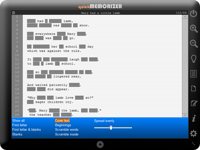 quick Memorizer Screenshot