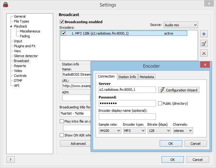 RadioBOSS Standard, Recording Studio Software Screenshot
