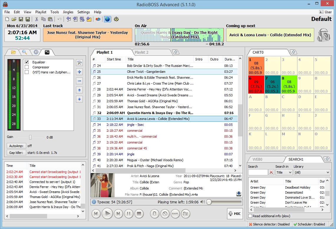 RadioBOSS Standard Screenshot