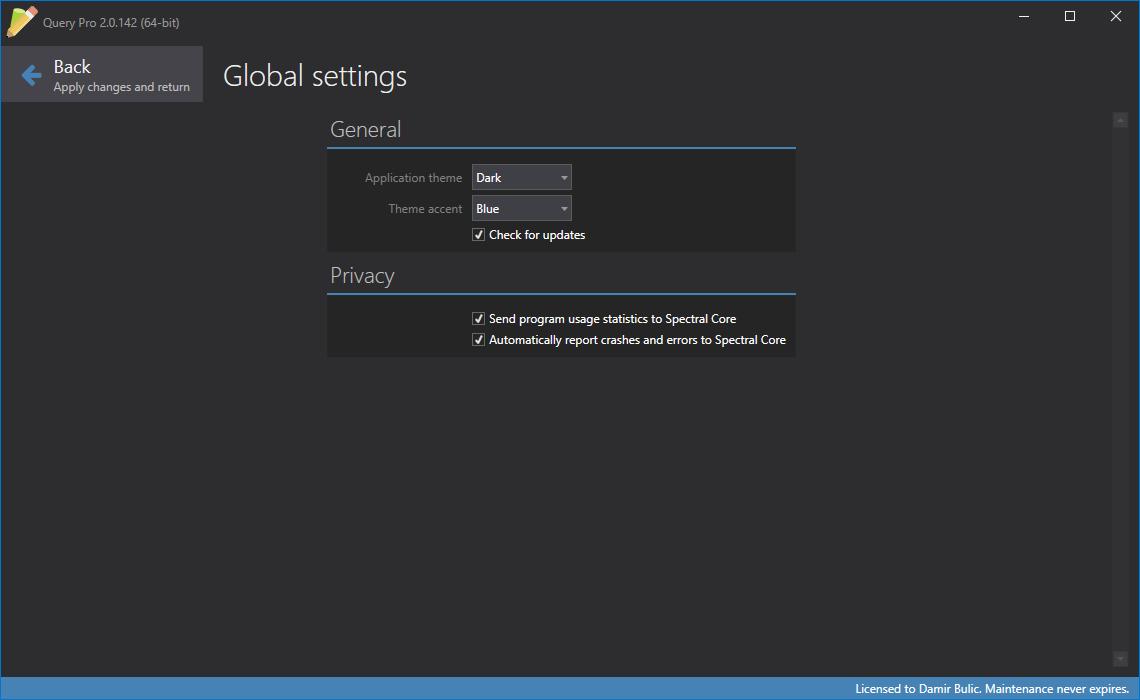 Query Pro, Development Software, Database Management Software Screenshot