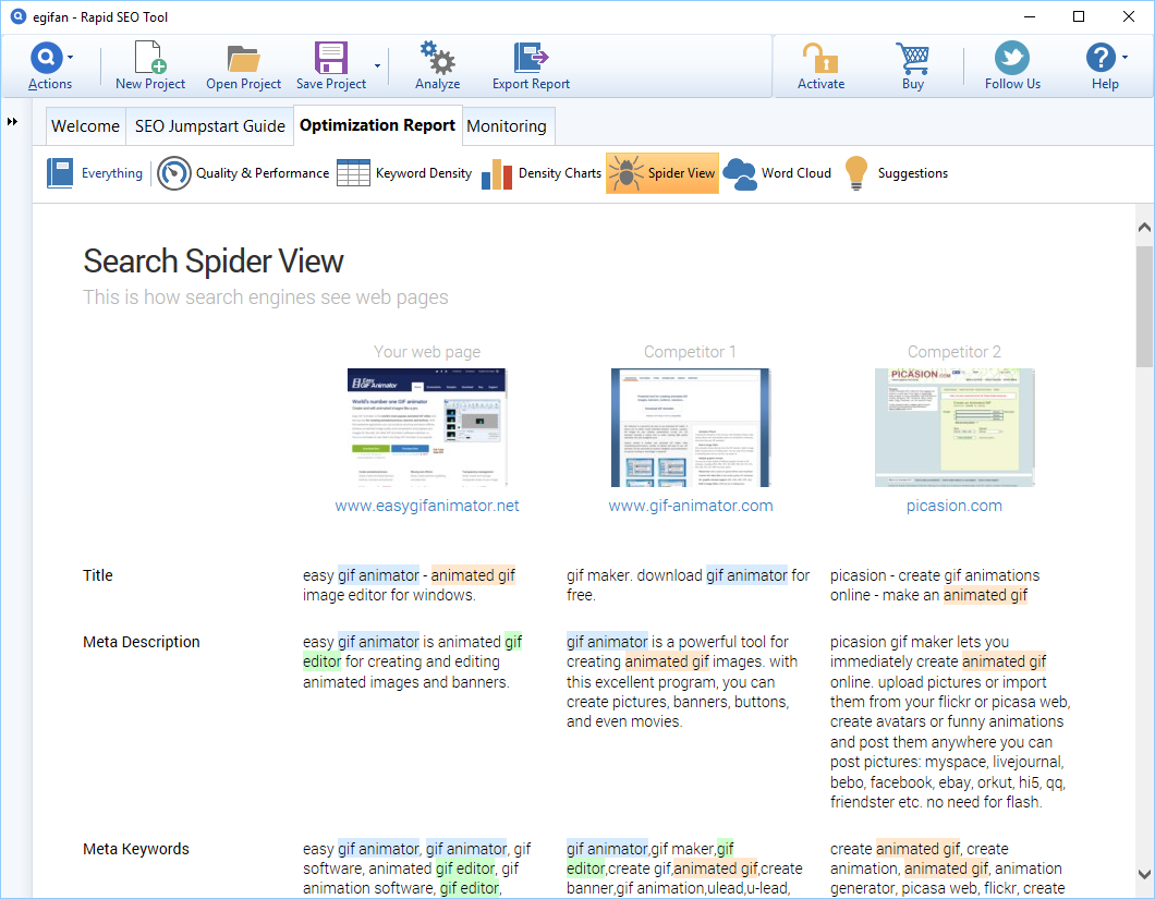 Development Software, Rapid SEO Tool Screenshot