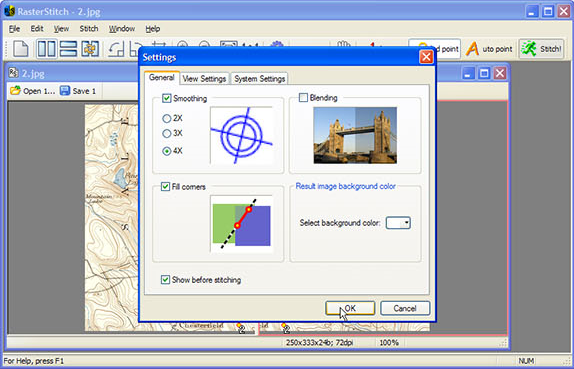 RasterStitch, Design, Photo & Graphics Software Screenshot