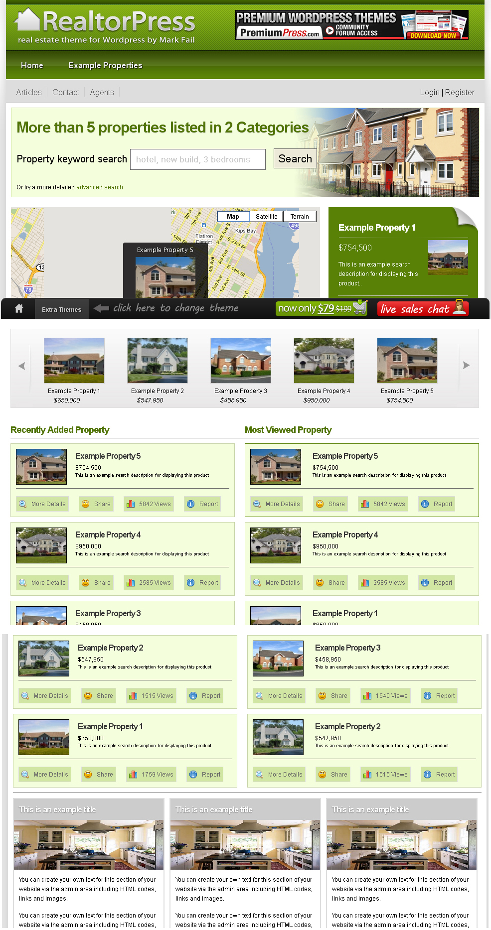 Real Estate Theme for Wordpress Screenshot