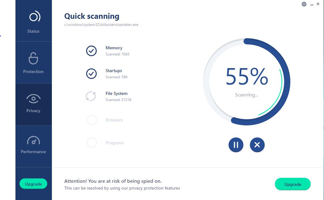 Reason Cybersecurity, Antivirus Software Screenshot