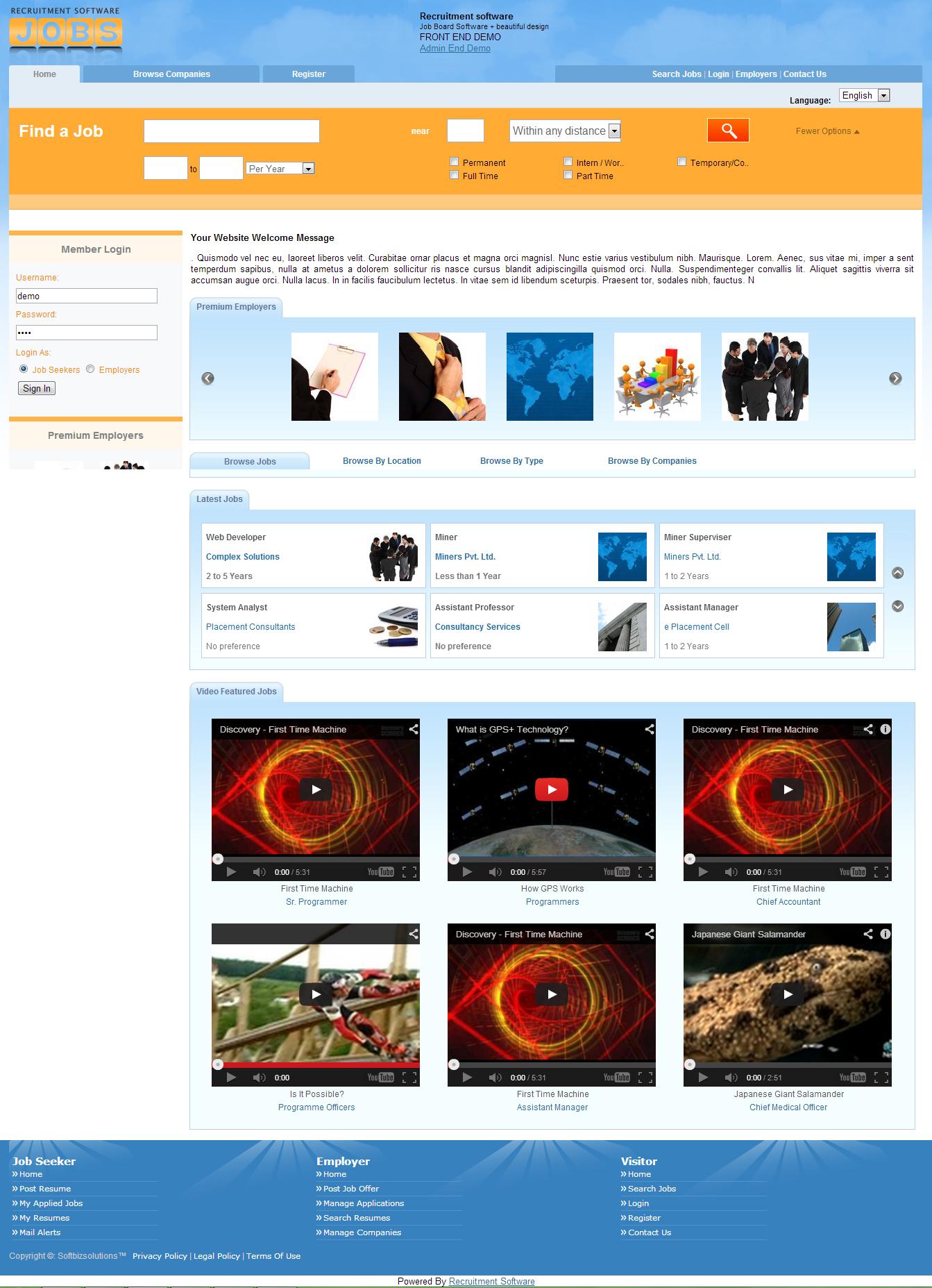 Recruitment Software Screenshot