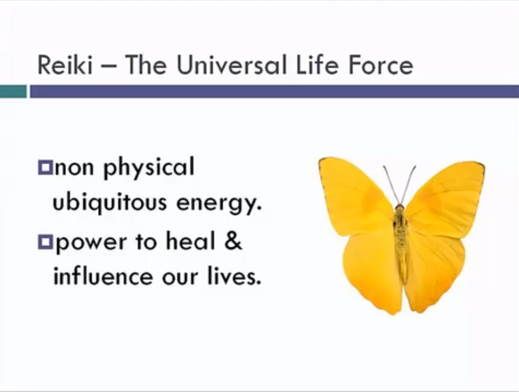 Reiki Level I, II and Master Certification Screenshot