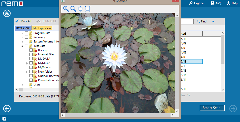 Remo Recover, Software Utilities Screenshot