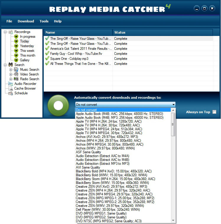 how to use replay media catcher