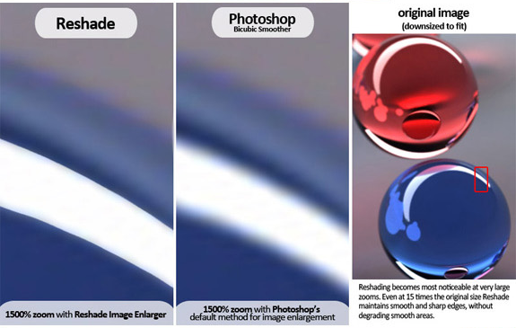 Reshade Image Enlarger, Design, Photo & Graphics Software Screenshot